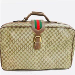 ✈️✌️❤️ Vintage Gucci 50 Travel Bag Light Brown PVC